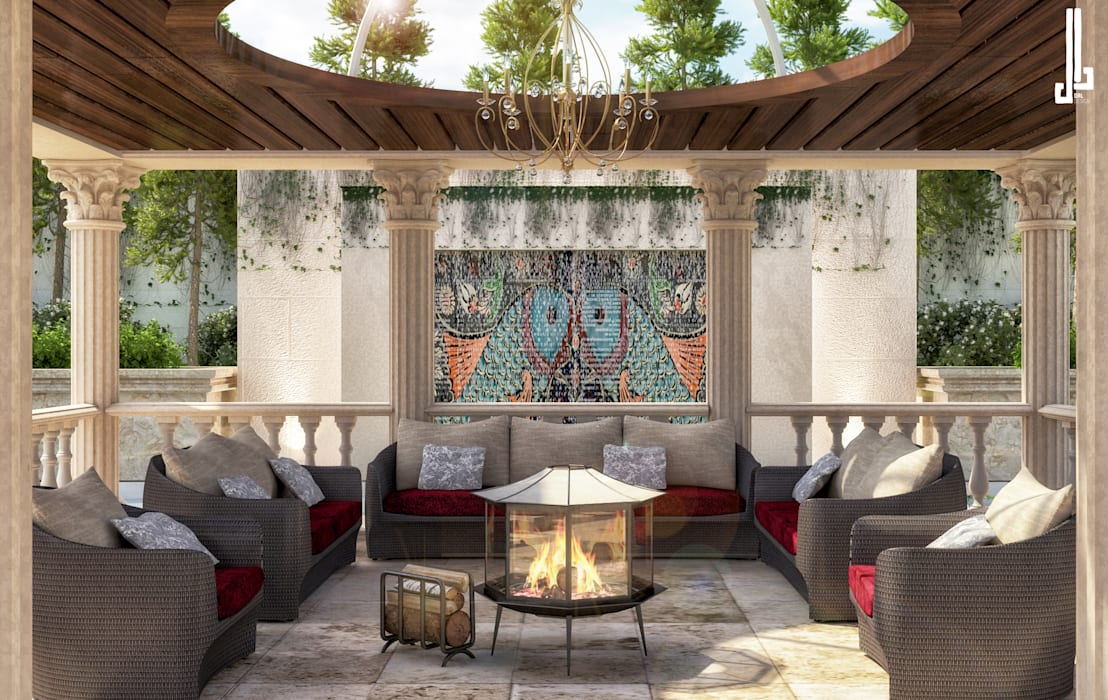 Classical Beauty landscape design:  Front yard by dal design office, Classic