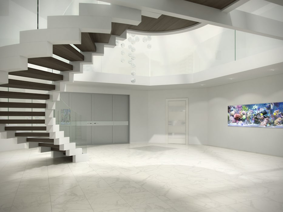 Cobra Foyer - helical foyer staircase Siller Treppen/Stairs/Scale Stairs Glass Transparent