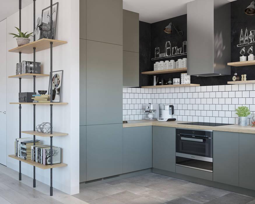 Cocinas pequeñas de estilo  por OM DESIGN
