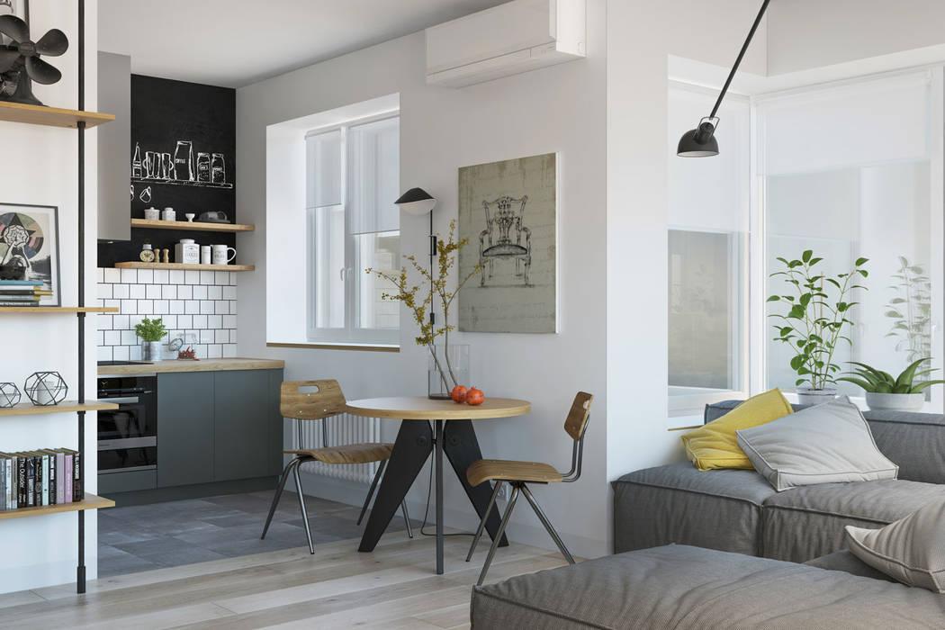 Cocinas pequeñas de estilo  por OM DESIGN,