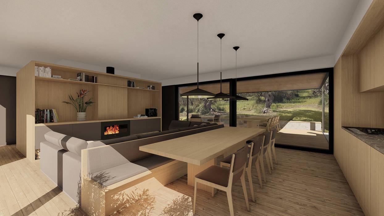 WOODEN HOUSE G|C – SICILY 根據 ALESSIO LO BELLO ARCHITETTO a Palermo 田園風 木頭 Wood effect