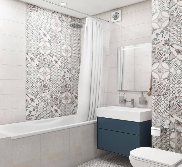 Дизайн интерьера квартиры в Новокосино Ванная комната в скандинавском стиле от OM DESIGN Скандинавский