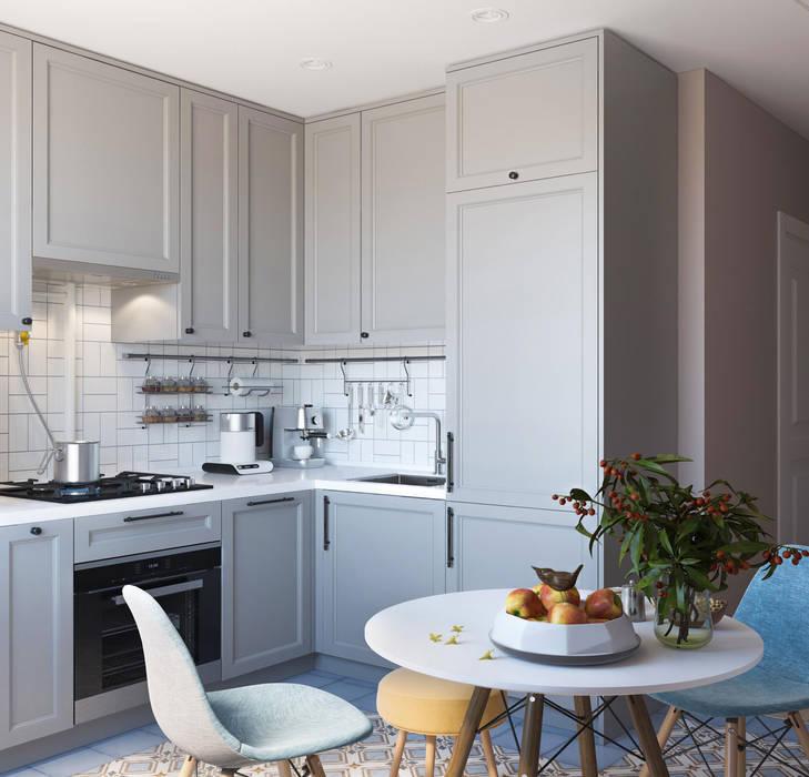 Дизайн интерьера квартиры в Новокосино: Кухни в . Автор – OM DESIGN
