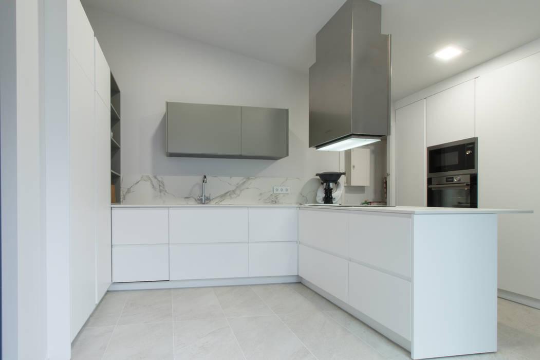 Cocina Lacada En Blanco Mate De Mesquearquitectura Moderno