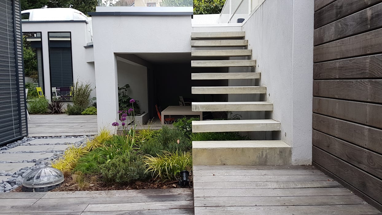 jardin contemporain jardin zen de style par cr ateurs d. Black Bedroom Furniture Sets. Home Design Ideas