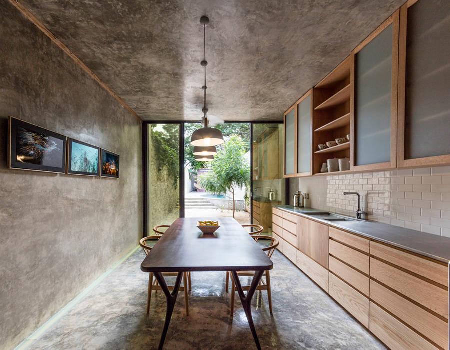 Cocina de Taller Estilo Arquitectura Moderno Madera Acabado en madera
