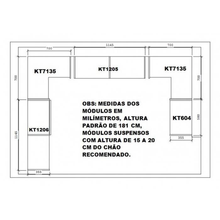 Guarda Roupa em U Casal Modelo Closet - Superclosets:   por SuperClosets,Moderno MDF