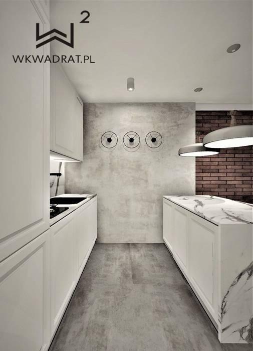 Кухонные блоки в . Автор – Wkwadrat Architekt Wnętrz Toruń, Минимализм Бетон