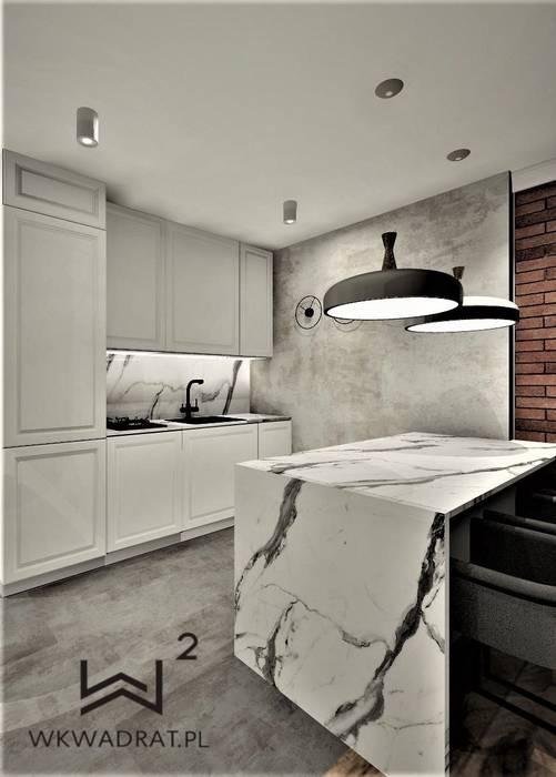 Маленькие кухни в . Автор – Wkwadrat Architekt Wnętrz Toruń, Классический Мрамор