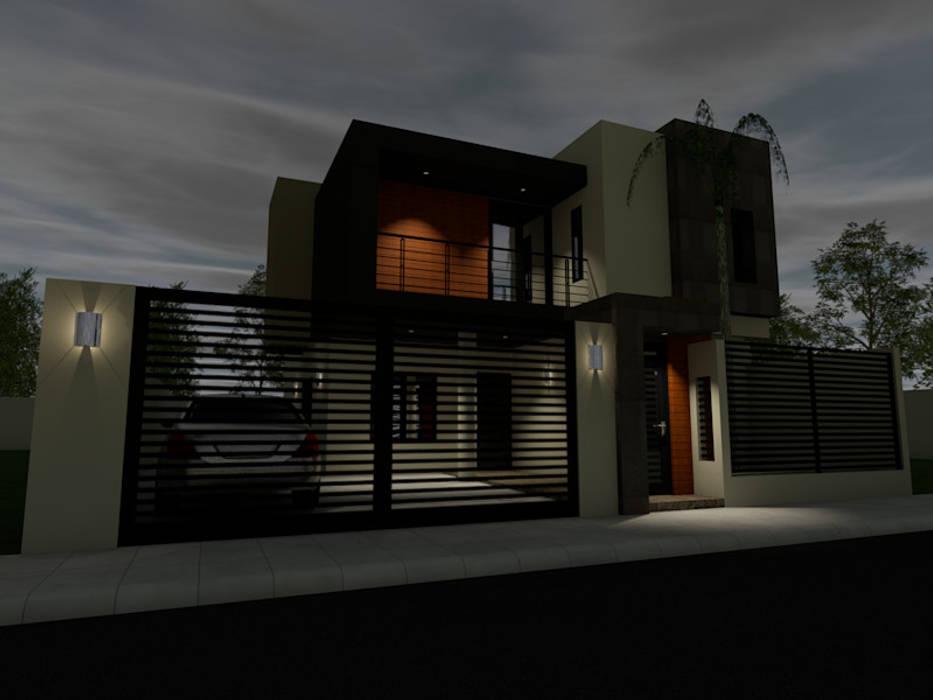 ARC ARQUITECTURA Maisons minimalistes Béton armé Multicolore