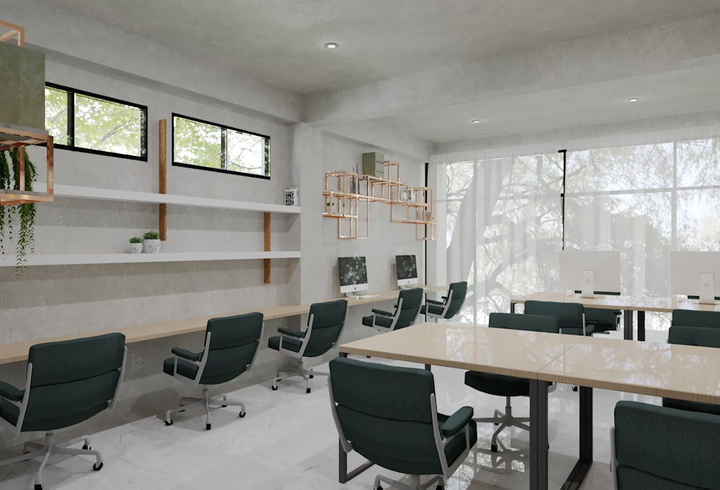 Staff Area- 2nd Floor: Ruang Kerja oleh TIES Design & Build,