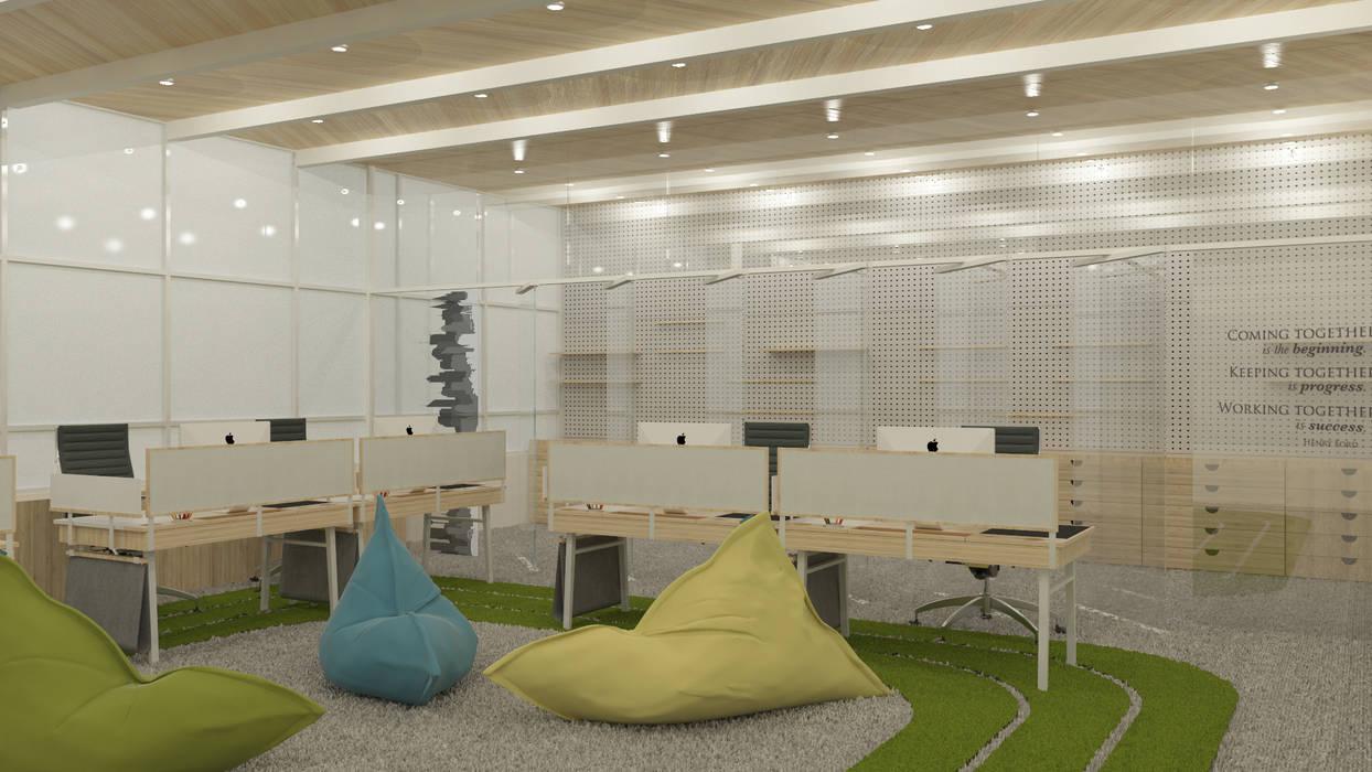 KM Designer Office Ruang Studi/Kantor Minimalis Oleh TIES Design & Build Minimalis