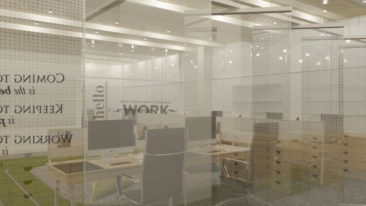 KM Designer Office: Ruang Kerja oleh TIES Design & Build,