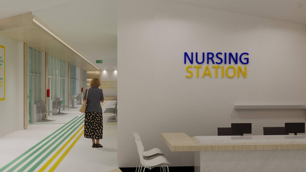 Nursing Station Koridor & Tangga Minimalis Oleh TIES Design & Build Minimalis