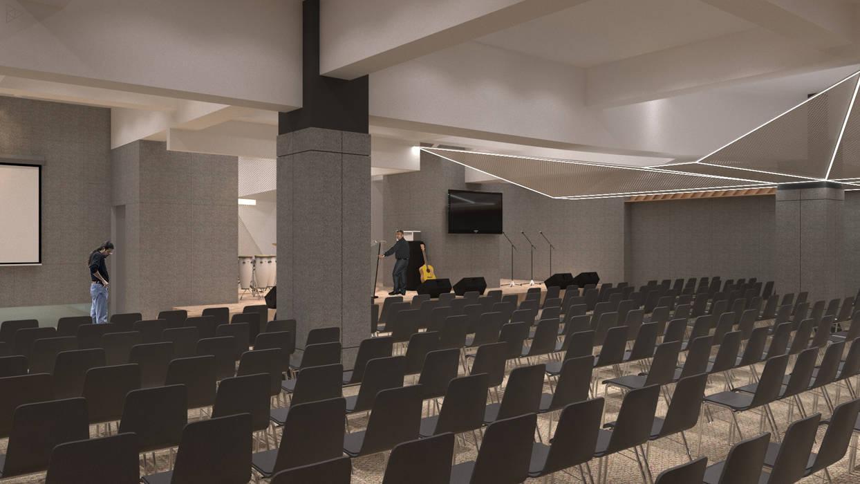 Hall Ruang Media Modern Oleh TIES Design & Build Modern