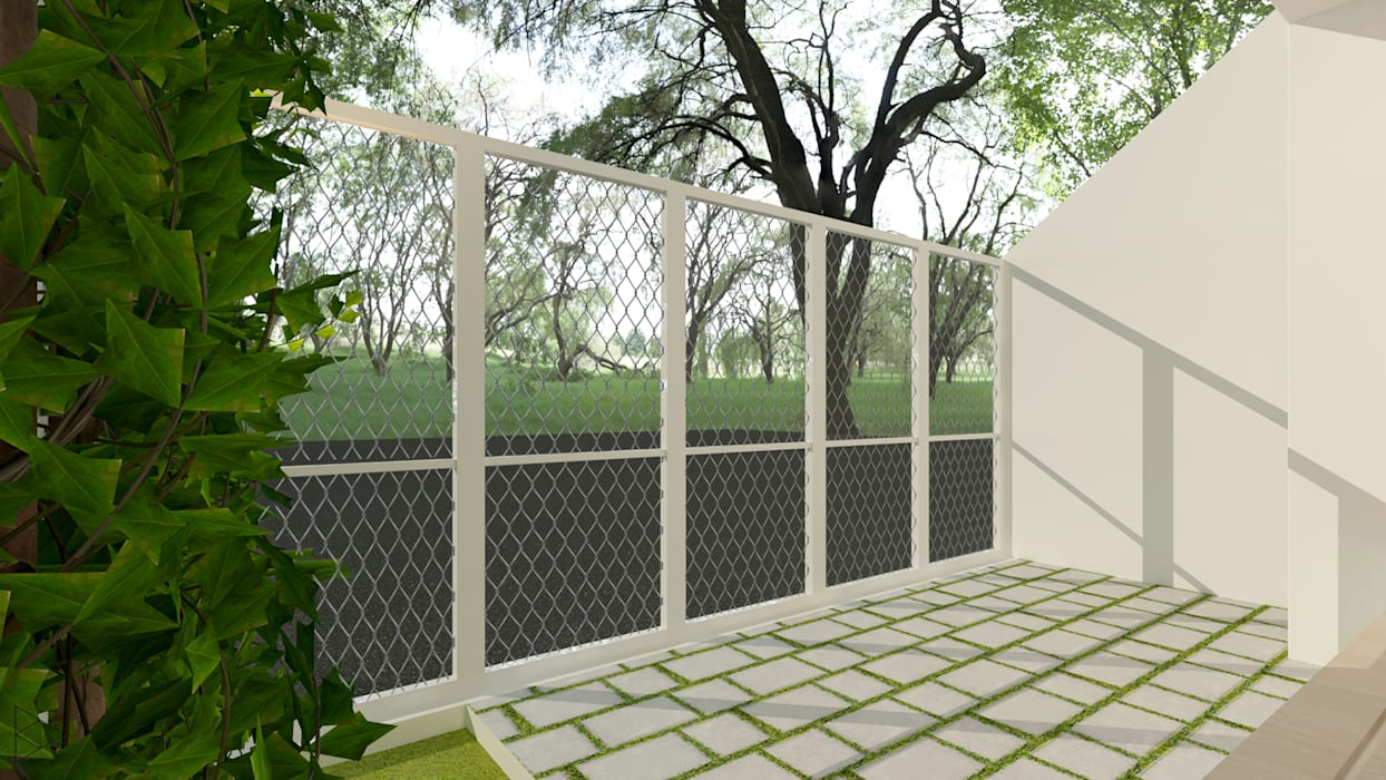 Carport: Teras oleh TIES Design & Build, Minimalis