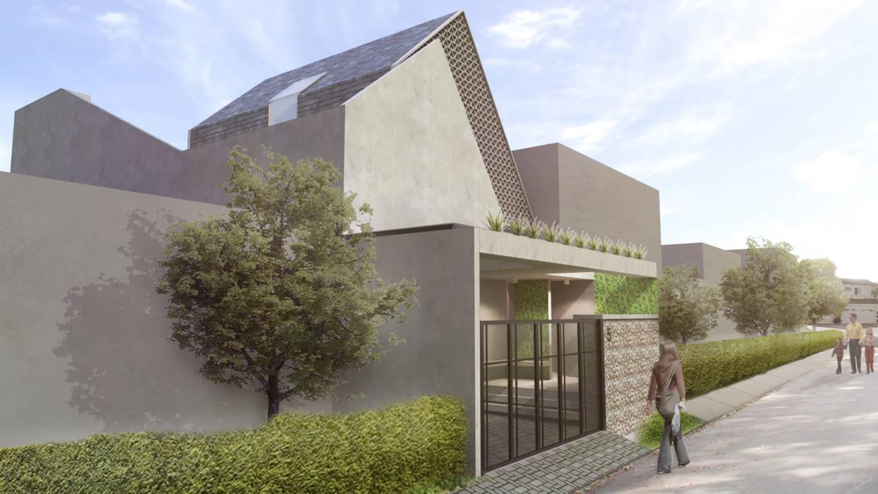 Exterior Rumah Gaya Industrial Oleh TIES Design & Build Industrial