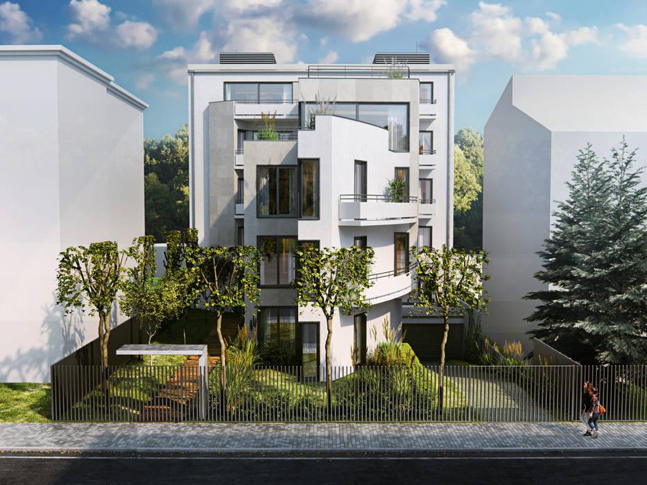 Casas de estilo moderno de Zbigniew Tomaszczyk Decorum Architekci Sp z o.o. Moderno