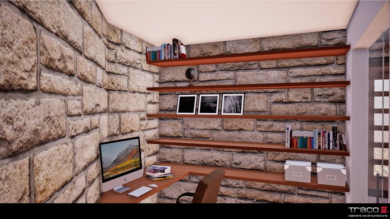 Rustic style study/office by Traço M - Arquitectura Rustic