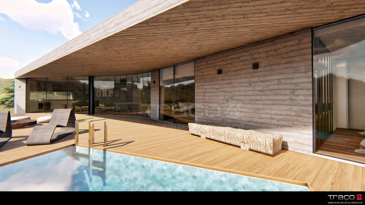 by Traço M - Arquitectura Scandinavian Concrete