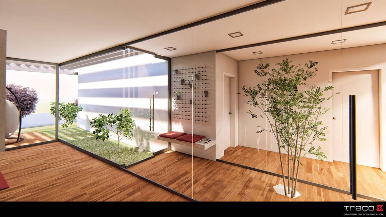 """Casa """"AP"""": Jardins de Inverno  por Traço M - Arquitectura"""