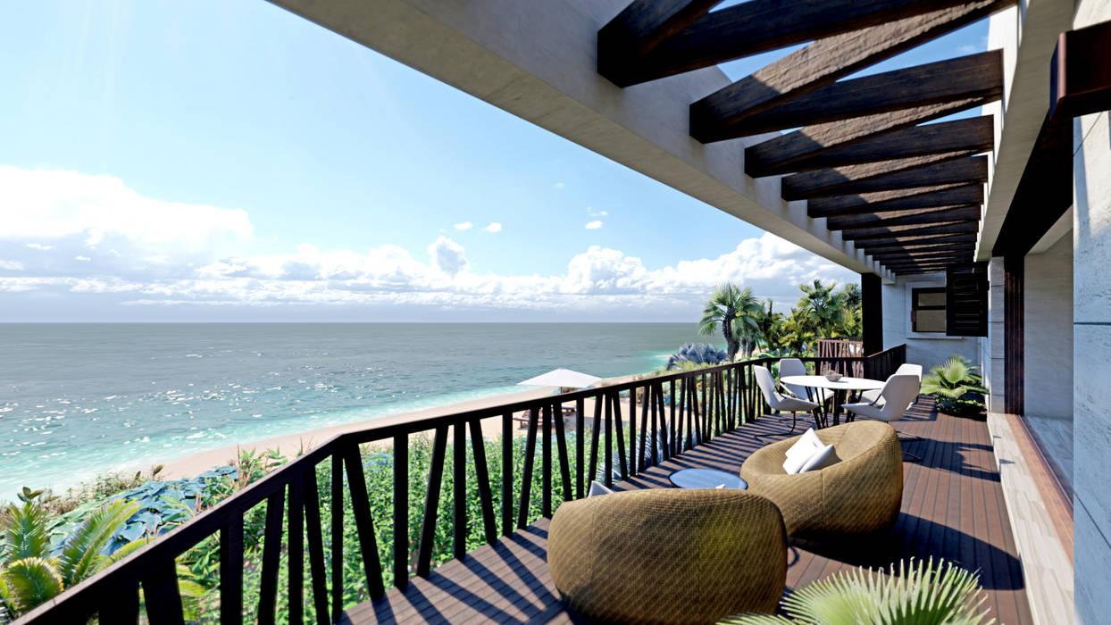 Terraza Frente Al Mar Balcones Y Terrazas Tropicales De