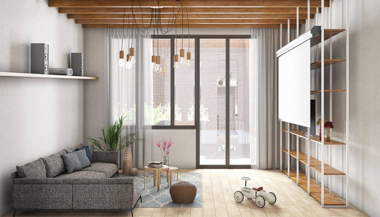 Reformar casa en el Putxet, Barcelona: Salones de estilo  de LaBoqueria Taller d'Arquitectura i Disseny Industrial