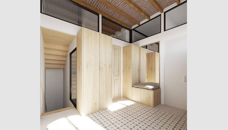 Reformar casa en el Putxet, Barcelona: Pasillos y vestíbulos de estilo  de LaBoqueria Taller d'Arquitectura i Disseny Industrial
