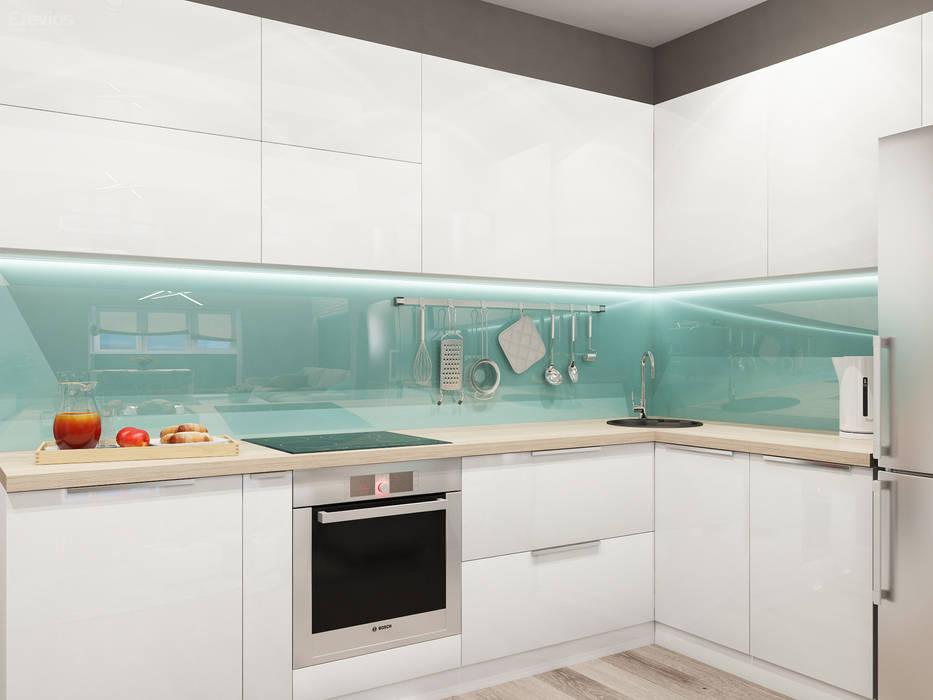 ЖК Светлый – Новосибирская область – Кухня-гостиная: Кухни в . Автор – Etevios