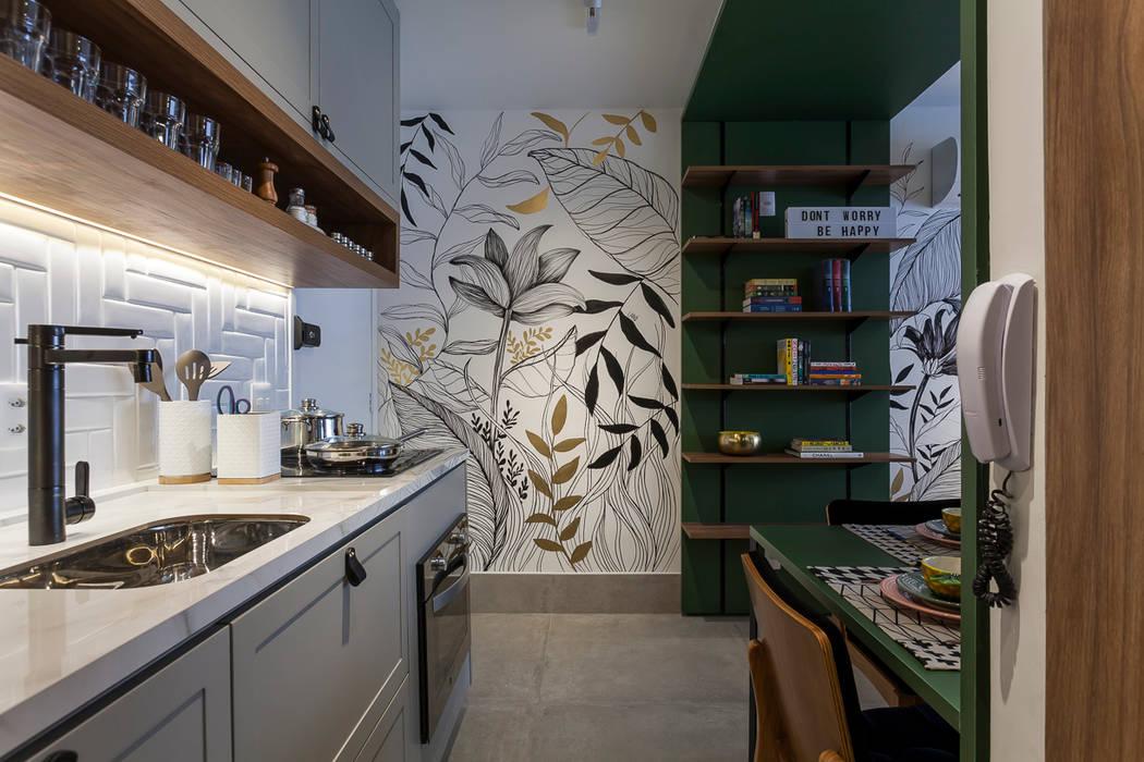STUDIO MODERNO FP: Cozinhas pequenas  por NEO ARQ,Moderno