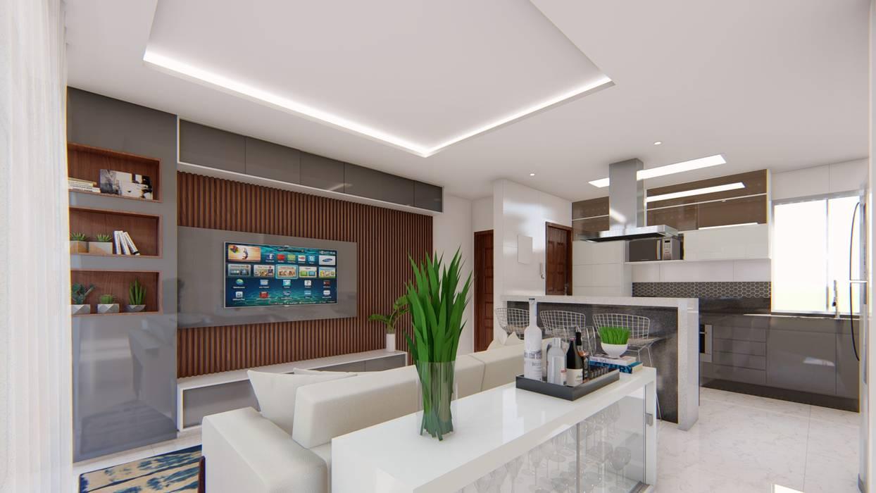 Sala de estar Salas de estar modernas por Fark Arquitetura e Design Moderno MDF