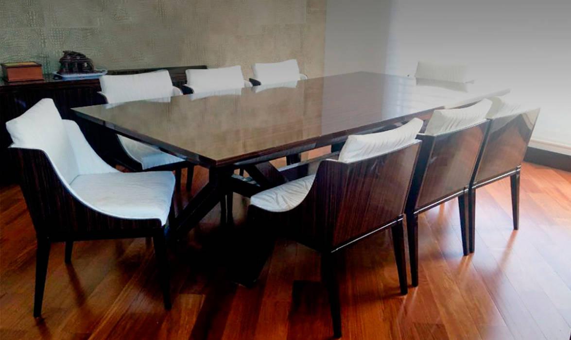 Comedor: Bosque Verde Comedores de estilo moderno de ARQUITECTURA Y DISEÑO CB Moderno Madera Acabado en madera