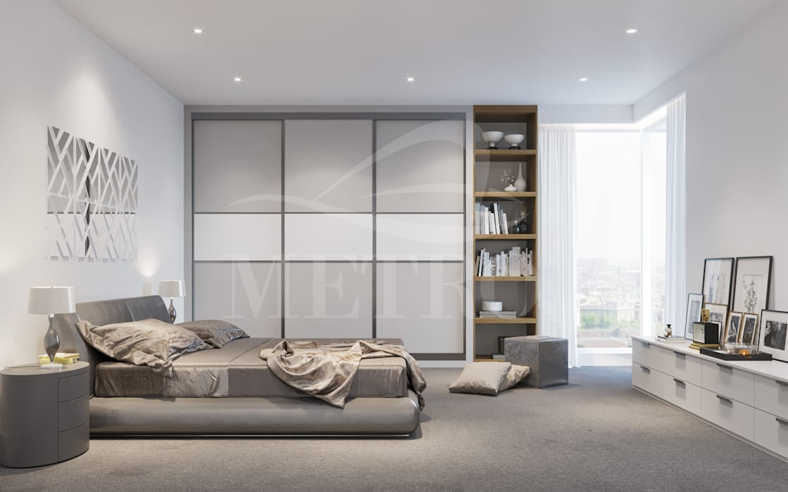 Made to Measure Fitted Sliding Wardrobes and Doors London:  Bedroom by Metro Wardrobes London