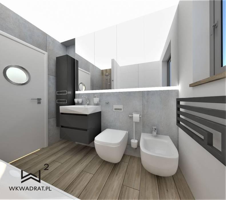 łazienka Beton I Drewno Styl W Kategorii łazienka