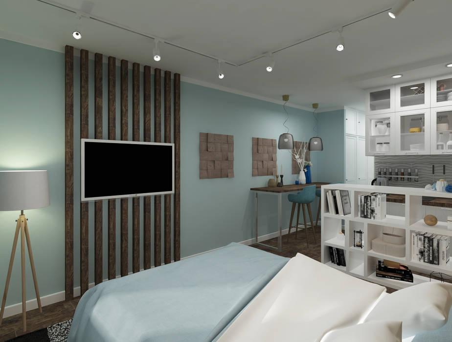 Ideal Spaceが手掛けた小さな寝室