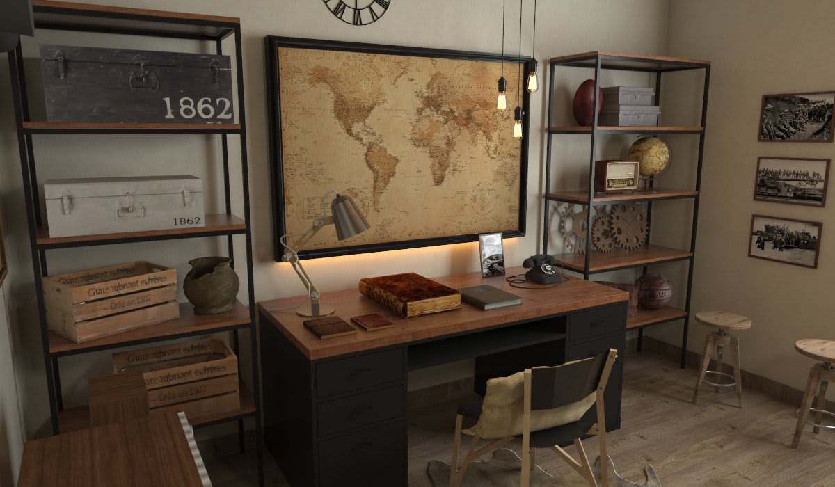 Classic style study/office by SARAÈ Interior Design Classic Plywood