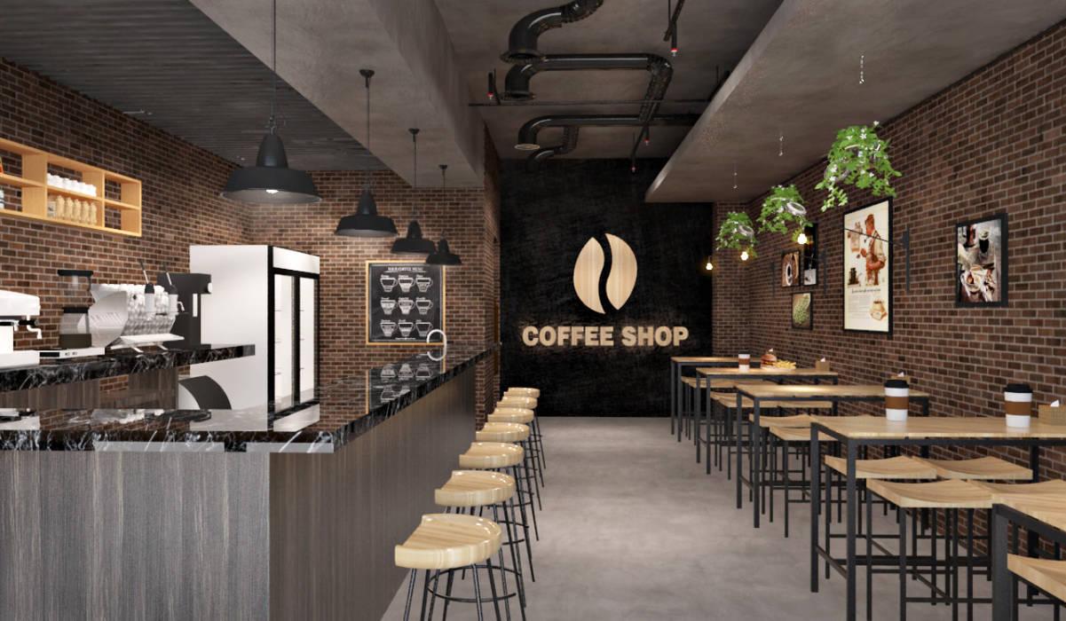 Tempat ngopi Ruang Makan Gaya Skandinavia Oleh SARAÈ Interior Design Skandinavia Kayu Lapis