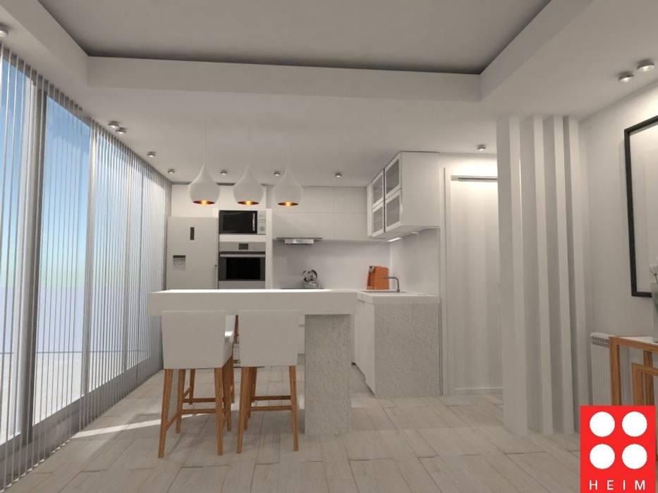 Cocinas pequeñas de estilo  por Heim Arquitectura Interior