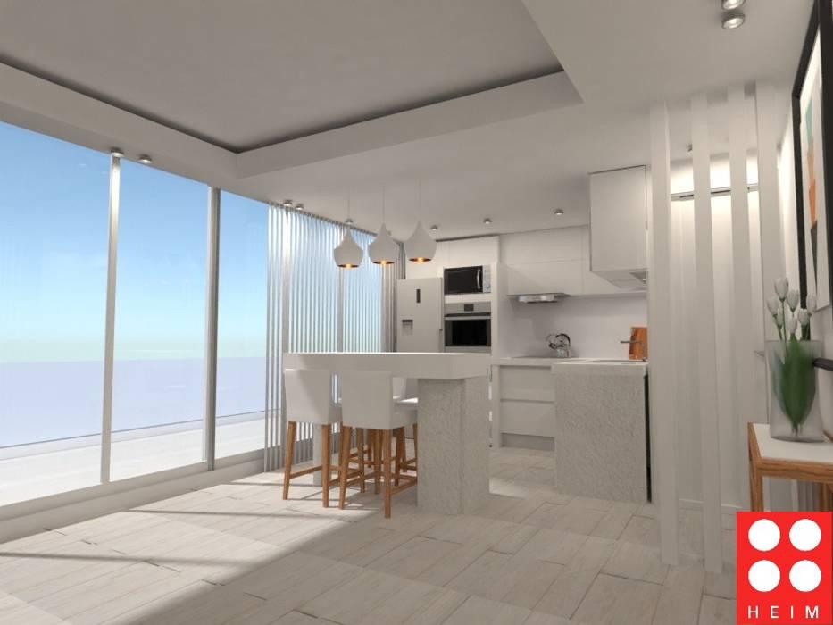 Petites cuisines de style  par Heim Arquitectura Interior, Scandinave