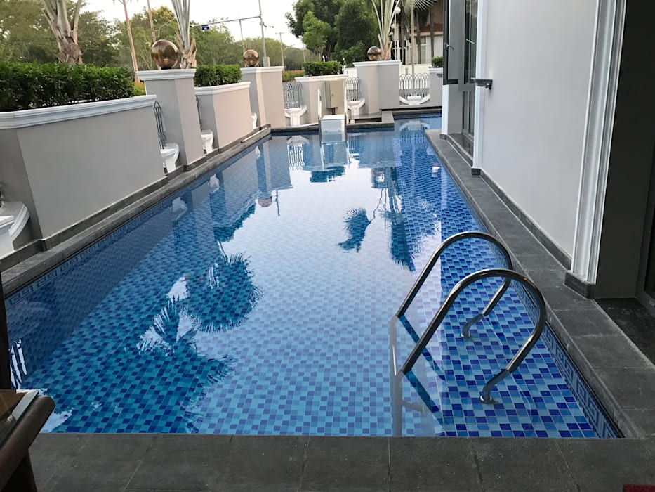 Thi công bể bơi chuyên nghiệp by seapoolvn Classic Reinforced concrete