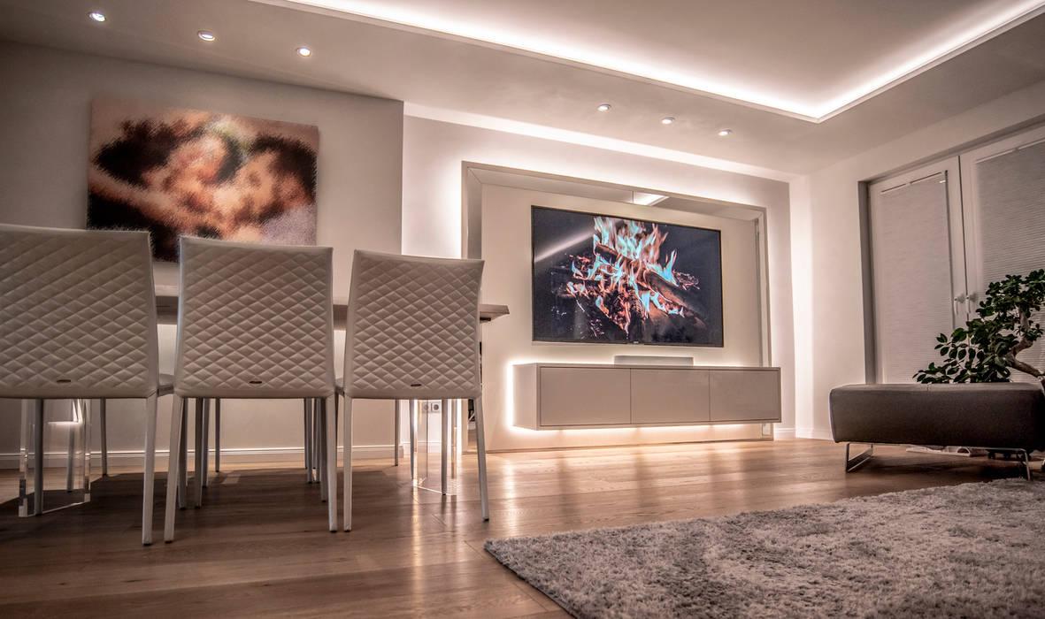 Exklusive lichtplanung einer designer wohnung moderne ...