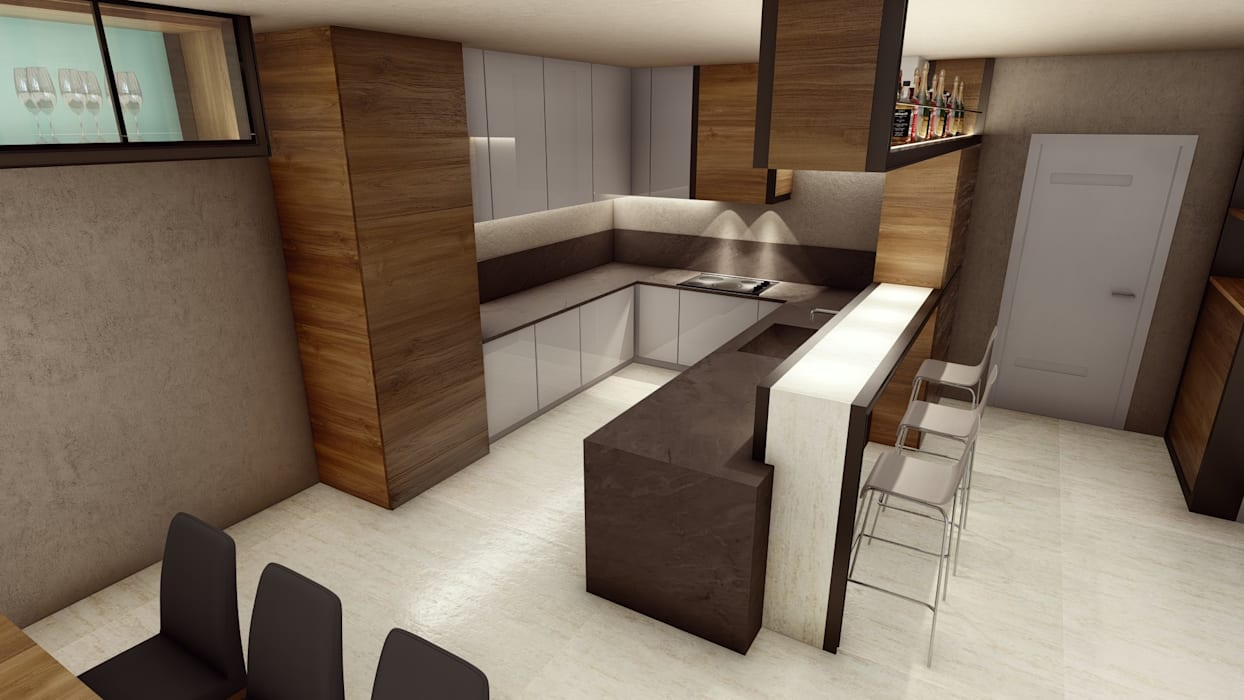 STUDIO ARCHITETTURA SPINONI ROBERTO Modern style kitchen