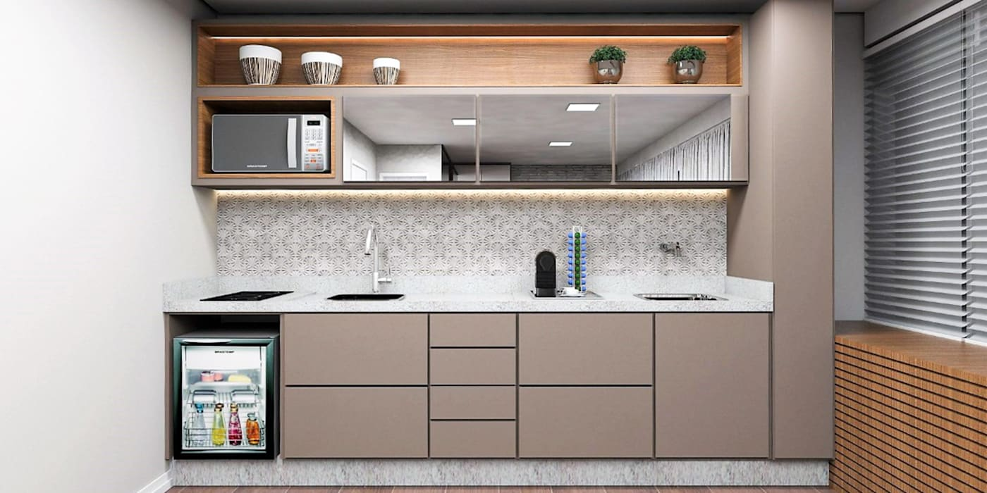 Petites cuisines de style  par Projeto 3D Online