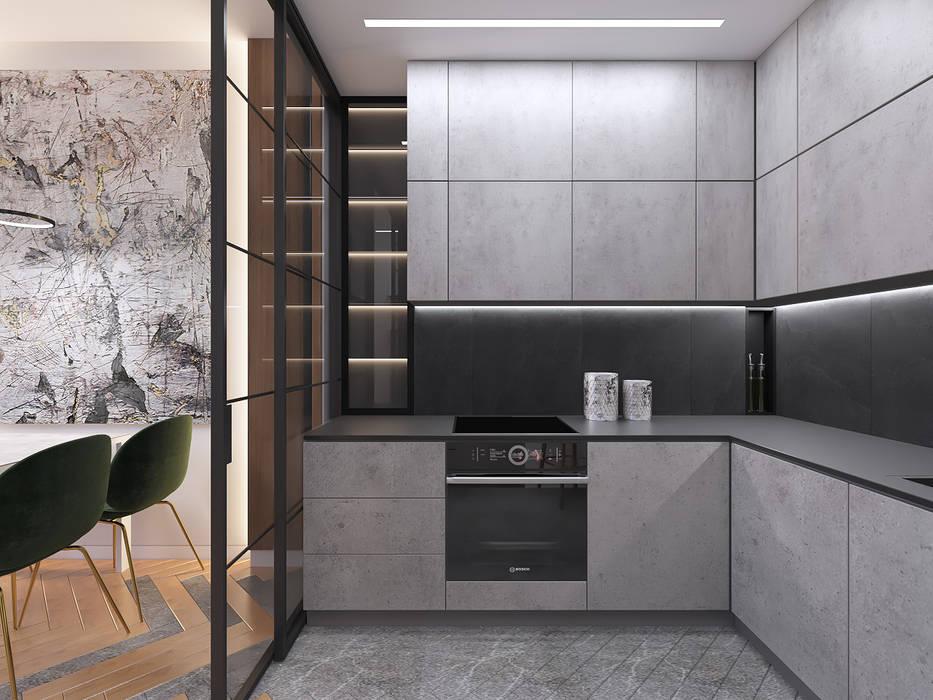 Industrial style kitchen by Студия дизайна и визуализации интерьеров Ивановой Натальи. Industrial