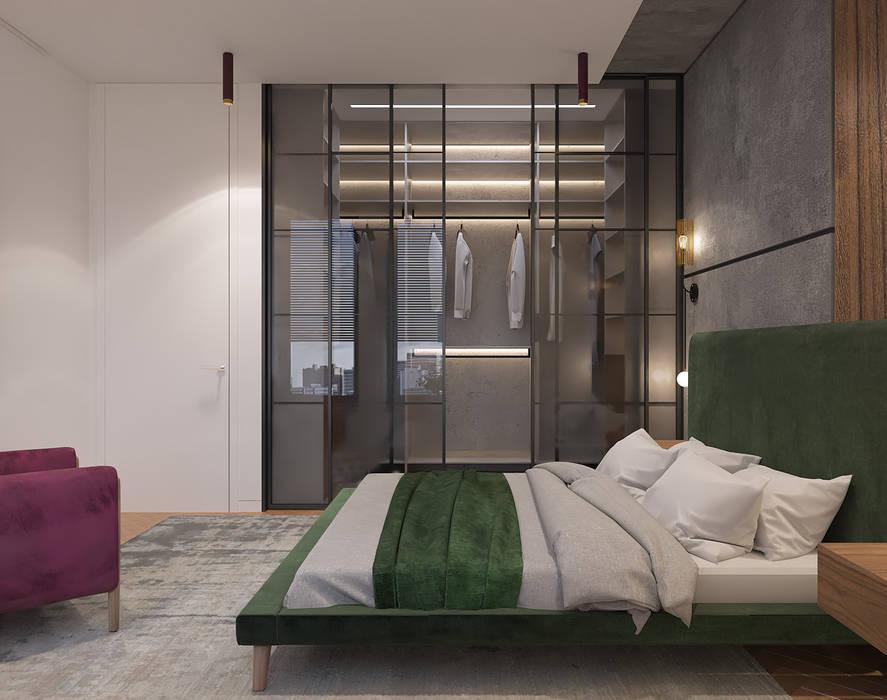 Dormitorios de estilo industrial de Студия дизайна и визуализации интерьеров Ивановой Натальи. Industrial