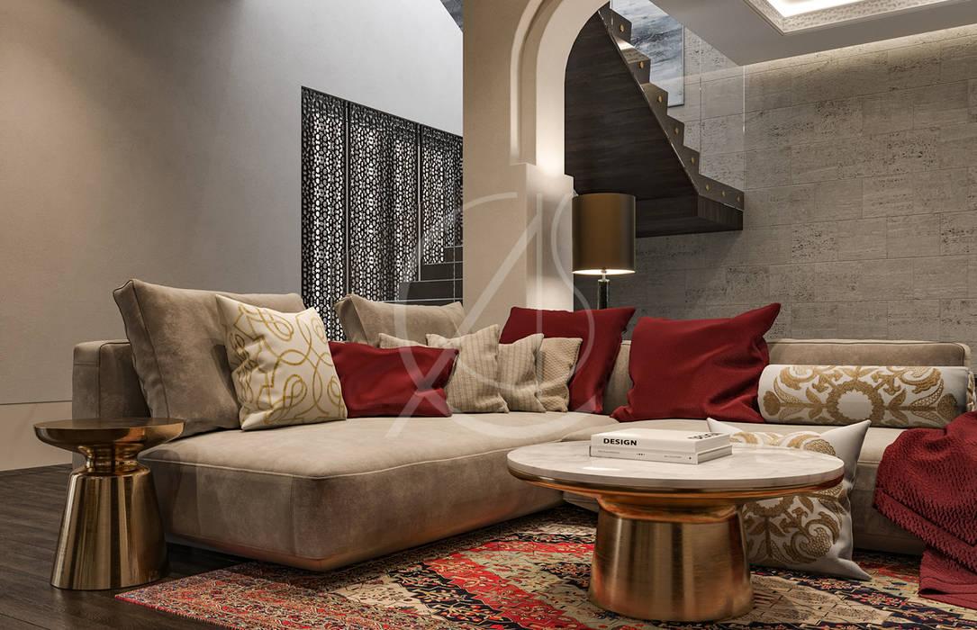 Aswar Hotel Modern Moroccan Hotel Design Modern Living Room By