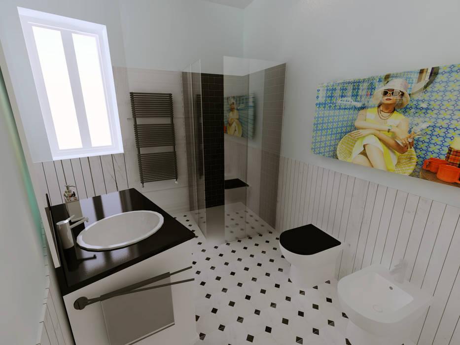 Phòng tắm phong cách thực dân bởi Bartolomeo Fiorillo Thực dân