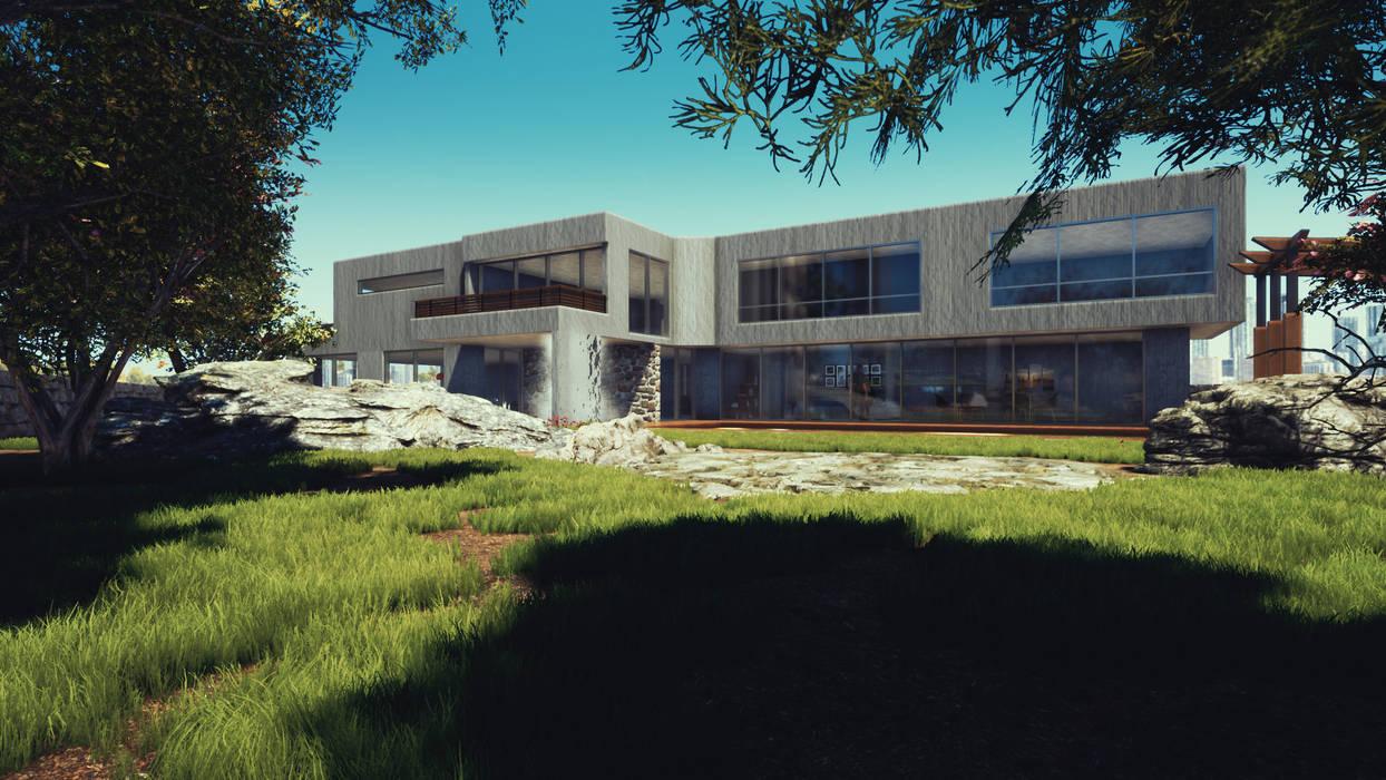 Fachada y Exterior: Casas de estilo  por CR.3D Modeling & Rendering