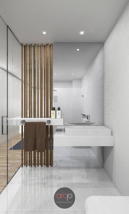 Modern Bathroom by arcq.o   rui costa & simão ferreira arquitectos, Lda. Modern