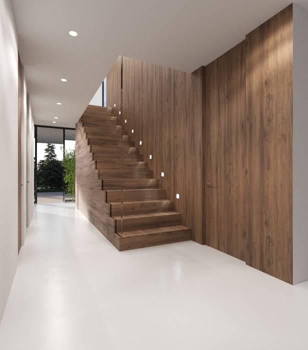 Modern corridor, hallway & stairs by Nuno Ladeiro, Arquitetura e Design Modern